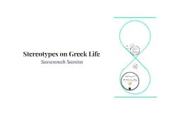 Stereotypes on Greek Life
