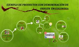 PRODUCTOS CON DENOMINACIÓN DE ORIGEN