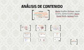ANÁLISIS DE CONTENIDO