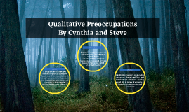 Copy of Qualitative Preoccupations