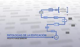 PATOLOGÍAS DE LA EDIFICACIÓN