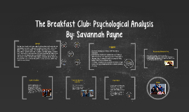 Copy of The Breakfast Club: Psycholgical Analysis