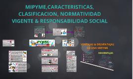 Copy of MIPYME CARACTERISTICAS, CLASIFICACION, NORMATIVIDAD VIGENTE,