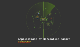 Application of Kinematics - Sonars