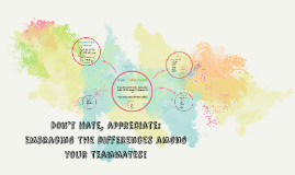 Don't Hate, appreciate: