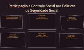 Participação e Controle Social nas Políticas de Seguridade S
