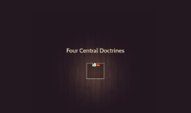 Four Central Doctrines