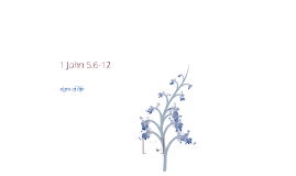 1 John 5.6-12