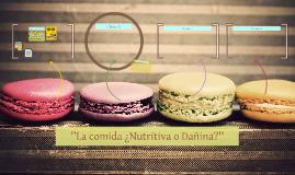 ''La comida ¿Nutritiva o Dañina?''