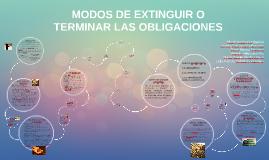 MODOS DE EXTINGUIR O TERMNIAR LAS OBLIGACIONES