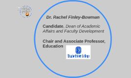 Dr. Rachel Finley-Bowman