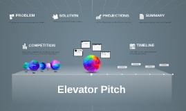 Copie de Elevator Pitch