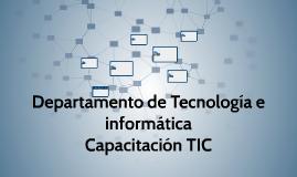 Departamento de Tecnología e informática