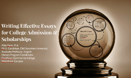 Writing Effective Essays for College Admission and Scholarships