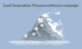 Lead Generation: Finance software campaign
