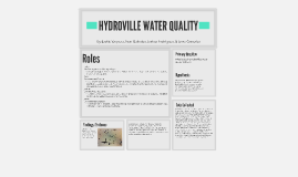 HYDROVILLE WATER QUALITY