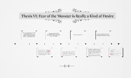 The monster deems taylor thesis