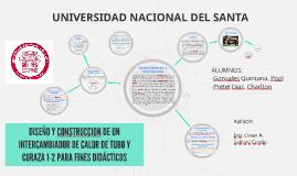 DISEÑO Y CONSTRUCCION DE UN INTERCAMBIADOR DE CALOR DE TUBO
