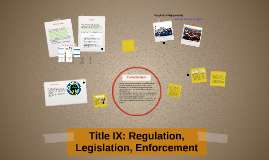 Title IX: Regulation, Legislation, Enforcement