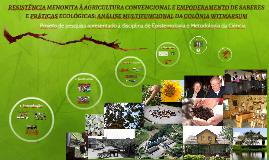 RESISTÊNCIA MENONITA À AGRICULTURA CONVENCIONAL E EMPODERAMENTO DE SABERES E PRÁTICAS ECOLÓGICAS:  ANÁLISE MULTIFUNCIONAL DA COLÔNIA WITMARSUM