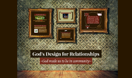 God's Design for Relationships