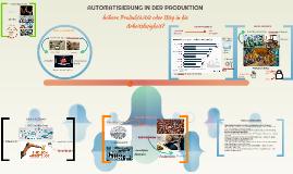 AUTOMATISIERUNG IN DER PRODUKTION
