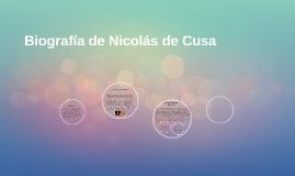 Biografia de Nicolas de Cusa