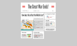 The Great War Ends!