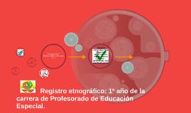 Registro etnográfico: 1º año de la carrera de Profesorado de