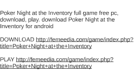 Poker Night at the Inventory full game free pc, download, pl