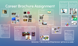 career brochure assignment Ilearn about a career in the foreign service where candidates can be provided   such assignments provide candidates with valuable opportunities to immerse.