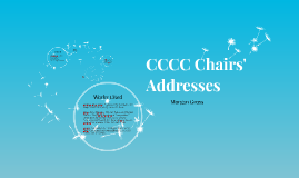CCCC Chairs' Addresses