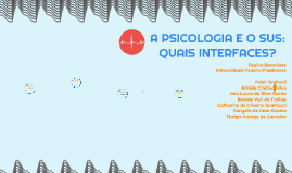 Copy of A PSICOLOGIA E O SUS: Quais interfaces?