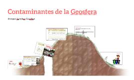Contaminantes de la Geosfera