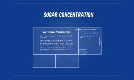 SUgar concentration