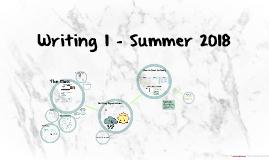 Summer 2018 Writing 1