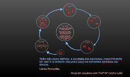 TRÊS DÉCADAS DEPOIS: A ASSEMBLEIA NACIONAL CONSTITUINTE DE 1