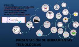 PRESENTACIÓN DE HERRAMIENTAS TECNOLÓGICAS