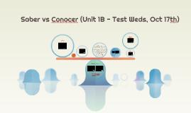 Saber vs Conocer (Unit 1B - Test Weds, Nov 1st)