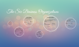 The Six Business Orginizations