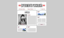 EXPERIMENTO PSICOLOGIA