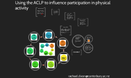 Copy of PENZ:  Using the ACLP to influence participation in physical activi