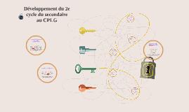 Développement du 2e cycle du secondaire au CPLG