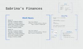 Sabrina's Finances