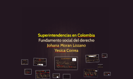 superintendencias en colombia