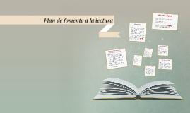 Plan de fomento a la lectura