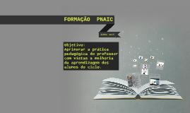 FORMAÇÃO  PNAIC -