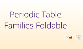 Copy of Copy of Periodic Table Families Foldable