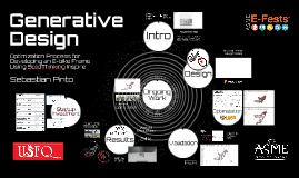 Generative Design Optimization Process for Developing an E-bike Frame 15 min