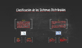 Clasificación de Sistemas Distribuidos